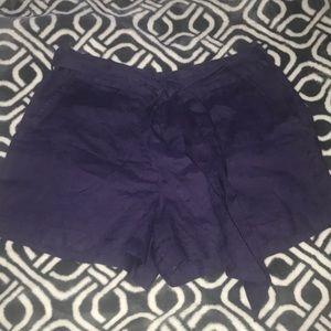 Saks 5th Ave purple linen shorts